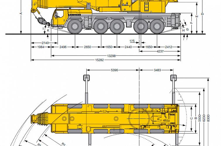Автокран LTM 1200-5.1 Liebherr