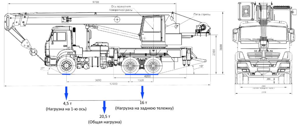 КС-35714/15 Урал автокран 16 тонн